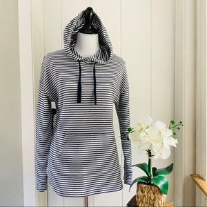 A NEW DAY Navy & White Striped Nautical Hoodie